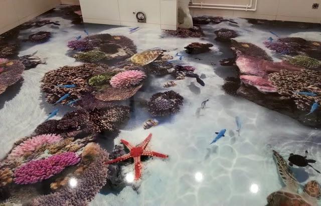 Phòng tắm sàn 3D - Mẫu số 9