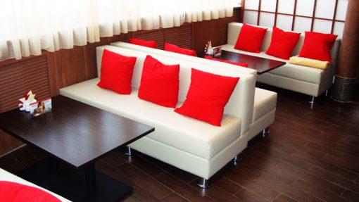 sofa cafe 1 ban ghe sofa cafe cho khong gian quan them sang trong