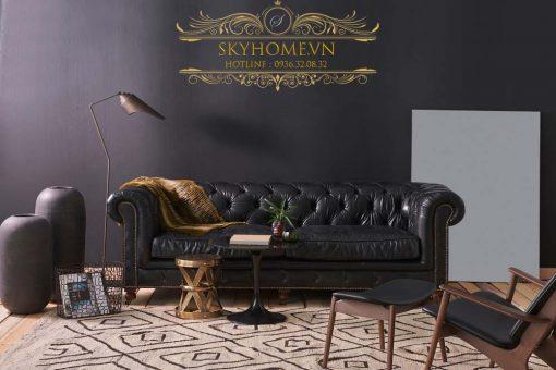 sofa da cho phong khach