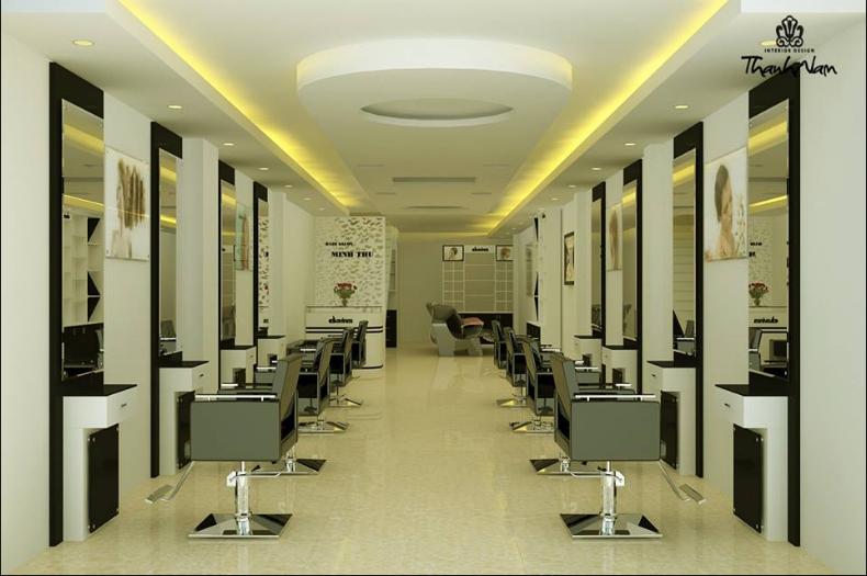 Thiết kế salon tóc đẹp và ấn tượng