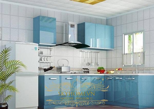 tủ bếp acrylic- mẫu số 3