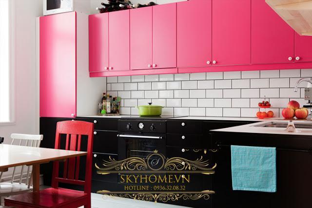 tủ bếp acrylic- mẫu số 6