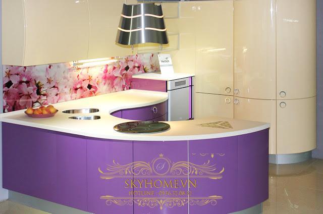 Tủ bếp acrylic đẹp - Mẫu số 4