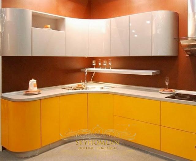Tủ bếp acrylic đẹp - Mẫu số 5