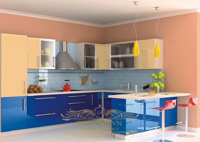tủ bếp acrylic- mẫu số 4
