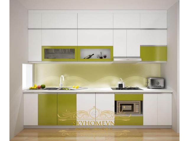 tủ bếp acrylic- mẫu số 2