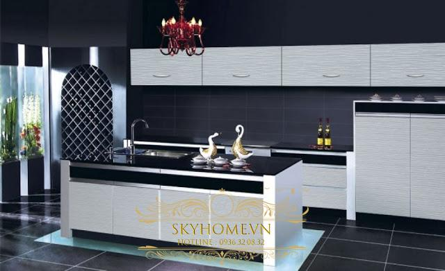 tủ bếp acrylic- mẫu số 1