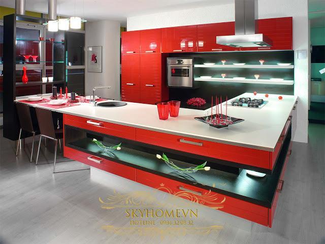 Tủ bếp đẹp - Mẫu thiết kế số 4