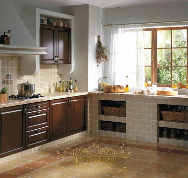 Tủ bếp chuyển tiếp - Mẫu số 2
