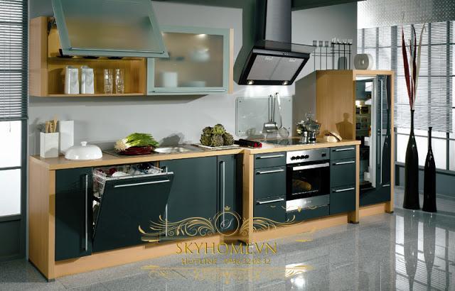 Tủ bếp chuyển tiếp - Mẫu số 3