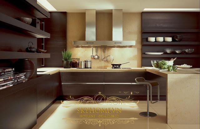 tủ bếp gỗ công nghiệp- mẫu số 4