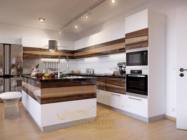 tủ bếp gỗ công nghiệp- mẫu số 5