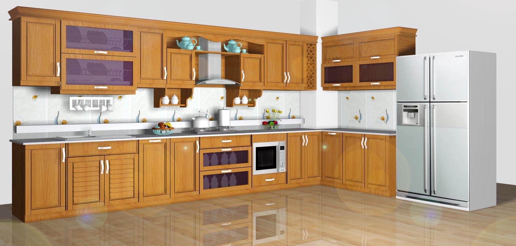 Tủ bếp gỗ bền đẹp