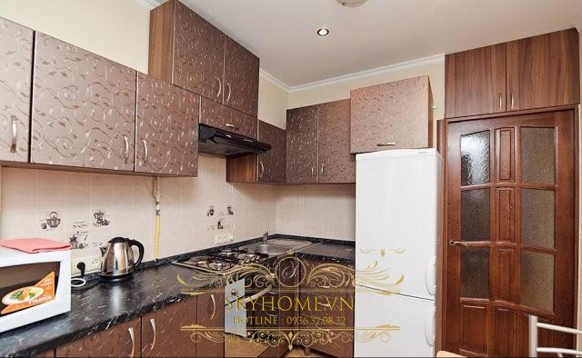 Tủ bếp gỗ laminate - Mẫu số 5