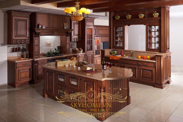 nội thất gỗ sồi mỹ - mẫu số 4