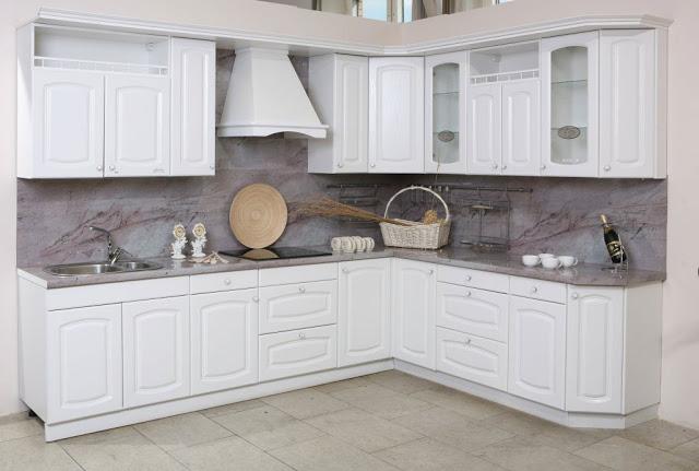 tủ bếp gỗ sơn trắng - mẫu số 1