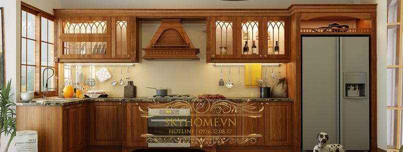 tủ bếp gỗ công nghiệp- mẫu số 2
