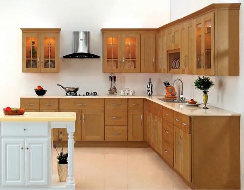 tủ bếp gỗ xoan đào - mẫu số 3