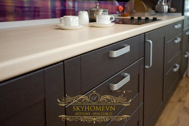 tủ bếp gỗ laminate- mẫu số 1