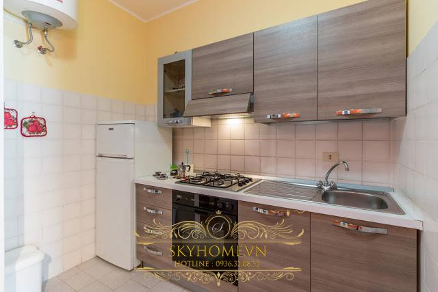 Tủ bếp gỗ laminate - Mẫu số 3