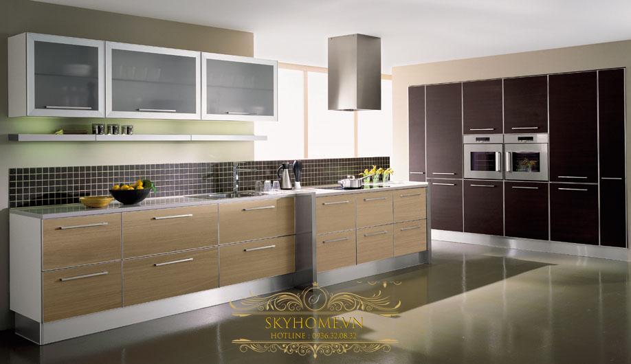 tủ bếp gỗ laminate- mẫu số 2