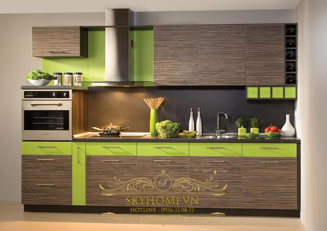 tủ bếp gỗ laminate- mẫu số 3