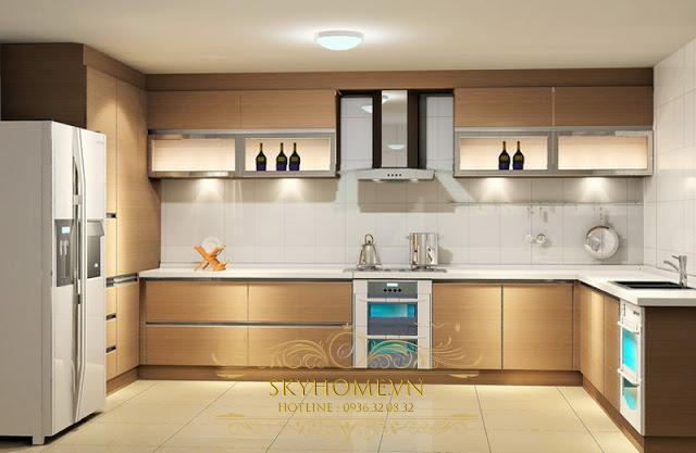 tủ bếp gỗ laminate- mẫu số 4