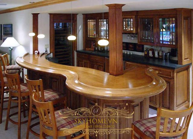 Tủ bếp có quầy bar - Mẫu thiết kế số 4