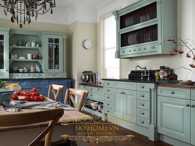 Tủ bếp phong cách Rustic - Mẫu số 4