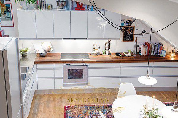 Tủ bếp phong cách Rustic