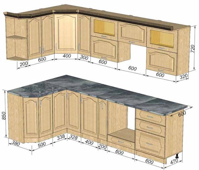 thiết kế tủ bếp tiêu chuẩn