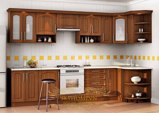 thiết kế tủ bếp đẹp - mẫu số 3