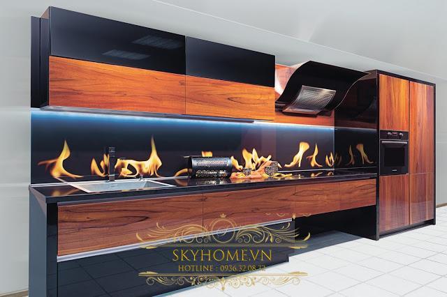 tủ bếp gỗ veneer- mẫu số 5