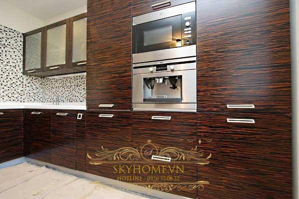 tủ bếp gỗ veneer- mẫu số 1