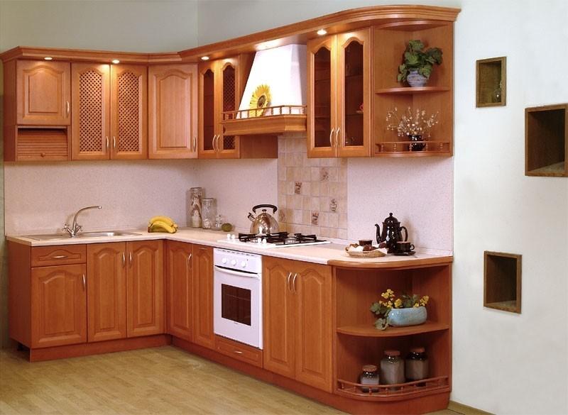 tủ bếp gỗ xoan đào - mẫu số 2