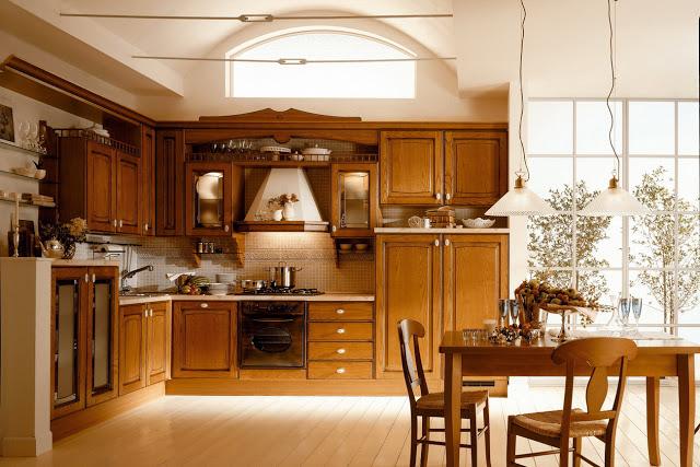 tủ bếp gỗ xoan đào - mẫu số 5