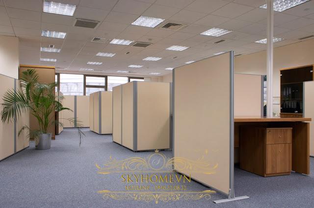 vách ngăn di động văn phòng- mẫu 1