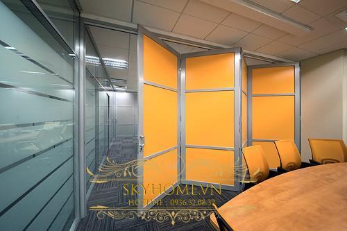 vách ngăn di động văn phòng- mẫu 6