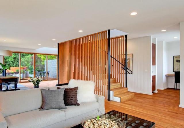 vách ngăn gỗ cầu thang- mẫu số 3