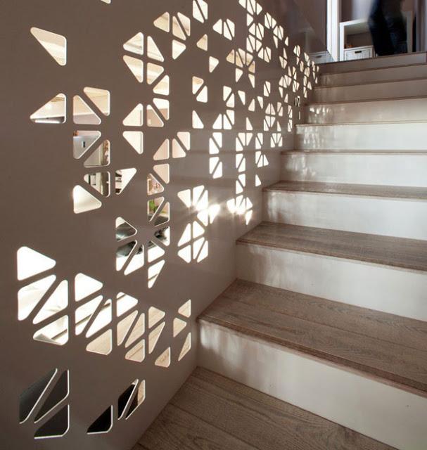 vách ngăn gỗ cầu thang- mẫu số 6