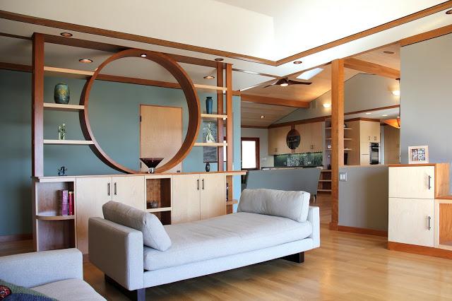 vách ngăn gỗ phòng khách- mẫu 5