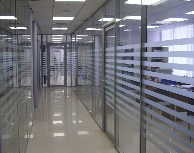 vách ngăn nhôm kính văn phòng- mẫu 2