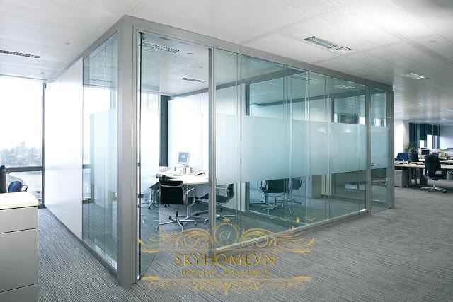 vách ngăn nhôm kính văn phòng- mẫu 5