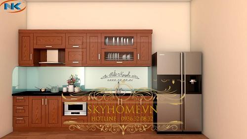 20 Mẫu Tủ Bếp Gỗ Xoan đào Giá Rẻ
