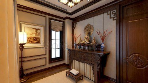 Bàn Thờ Phật 2 Tầng Cho Biệt Thự Chung Cư