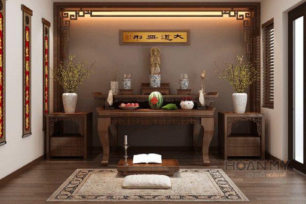 Gợi ý Trang Trí Bàn Thờ Phật Bằng Gỗ Tại Nhà đẹp