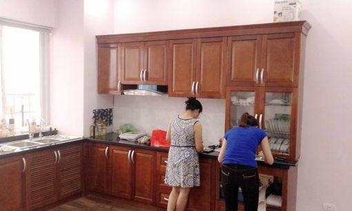 Mẫu Tủ Bếp Gỗ Xoan Bắc đẹp