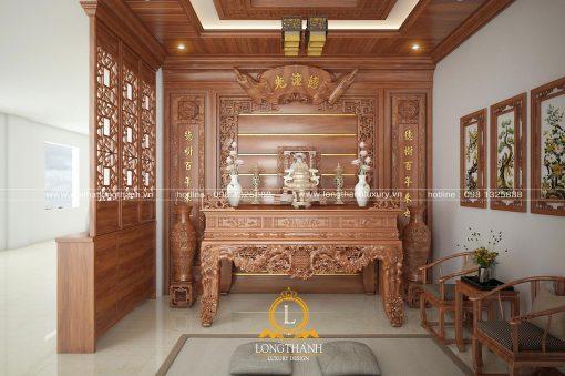Phòng Thờ đẹp Cho Nhà Rộng