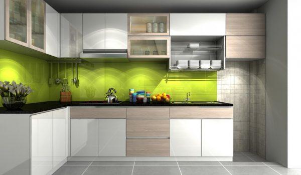 Tủ Bếp Trên Và Tủ Bếp Dưới Hdf Chống Ẩm
