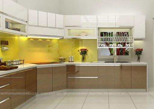 Tủ Bếp Gỗ Acrylic Kiểu Dáng Sang Trọng
